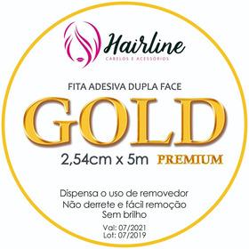 Fita Adesiva Hairline Gold  P/ Prótese Capilar 2.54mm X 5m