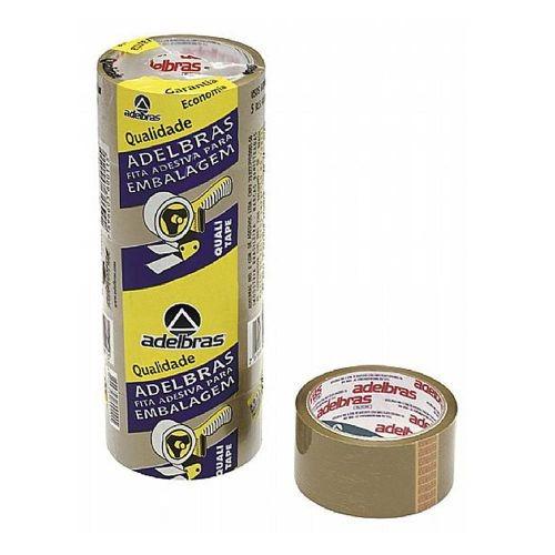 fita adesiva para embalagem 48x45 marrom adelbras