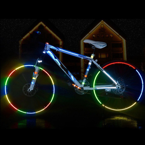 fita adesiva para segurança da bicicleta adesivos reflexivos