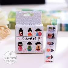 fita adesiva washi tape 10m tema japonesinhas