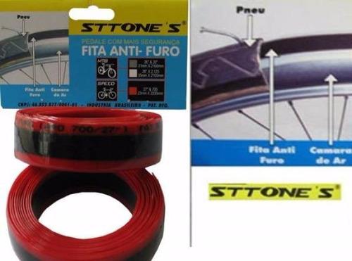 fita anti furo para bike aro pneu speed 700 sttone´s