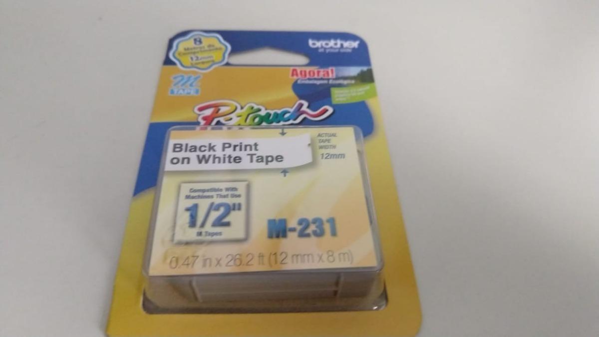 e4c0d7a99 fita brother m231 12mm preto branco kit com 5. Carregando zoom.