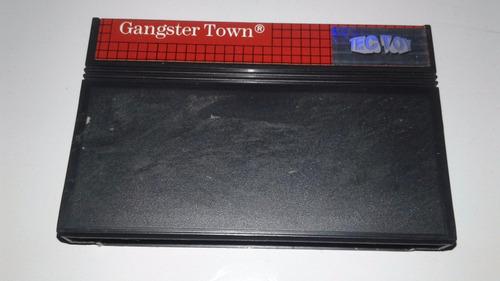 fita cartucho original master system  gangster town