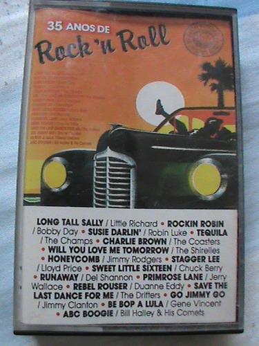 fita cassete 35 anos de rock´n roll - som livre 1991 vários