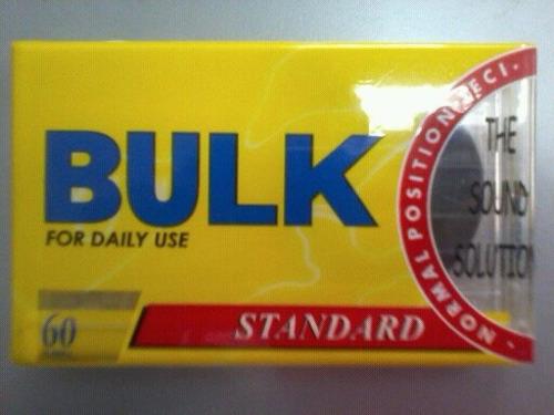 fita cassete  nova na embalagem fechada bulk