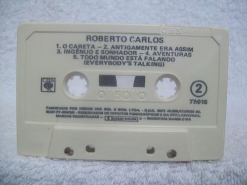 fita cassete original roberto carlos- com a música o careta