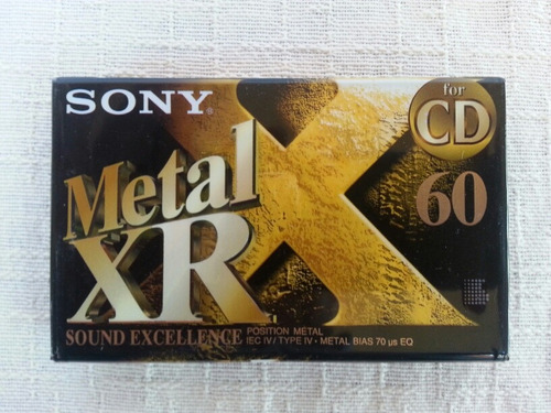 fita cassete sony xr-60 metal type iv lacrada