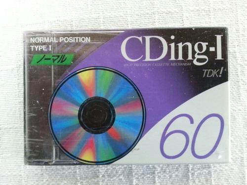 fita cassete tdk cding-i 60 minutos normal type i lacrada!