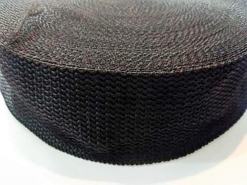 fita cinta amarração confecção 40mm cbr 50 metros preta