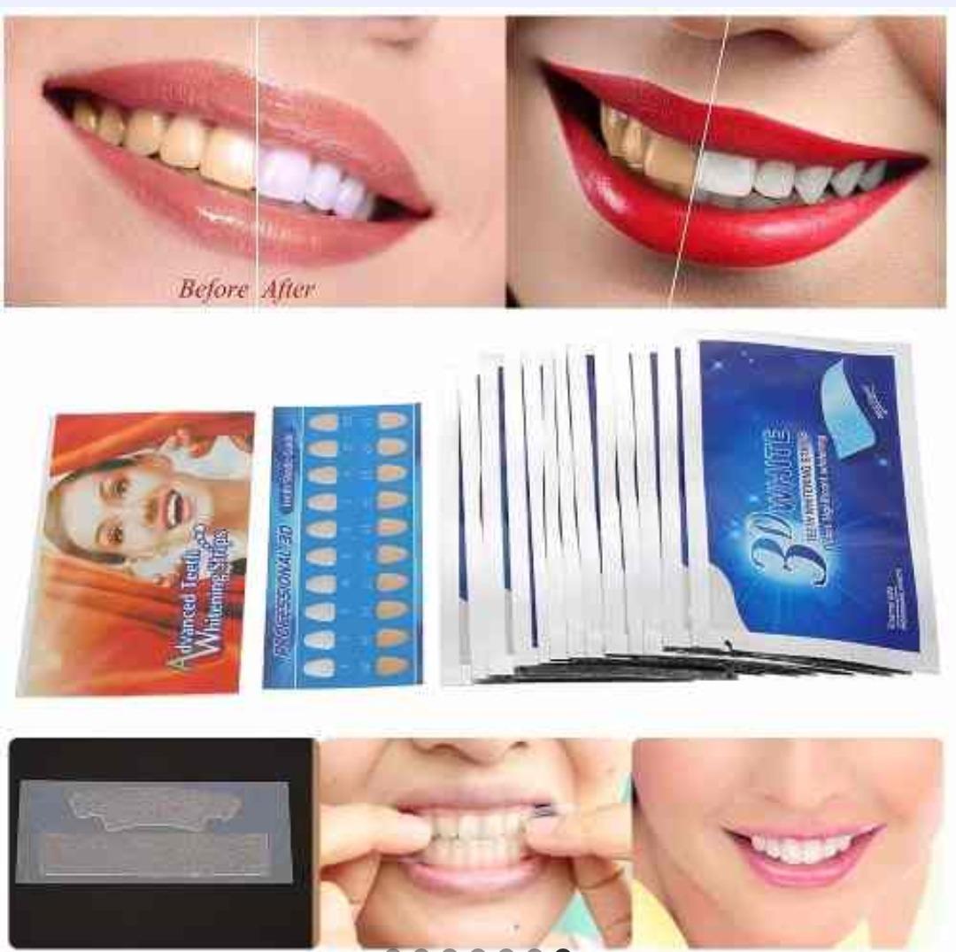 Fita Clareadora Dental 3d White 7 Cartelas R 34 90 Em Mercado Livre