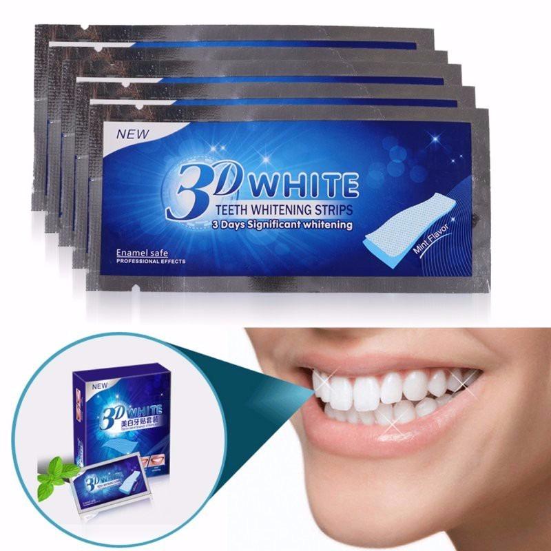 Fita Clareadora Dental 3d White 7 Cartelas R 34 99 Em Mercado Livre