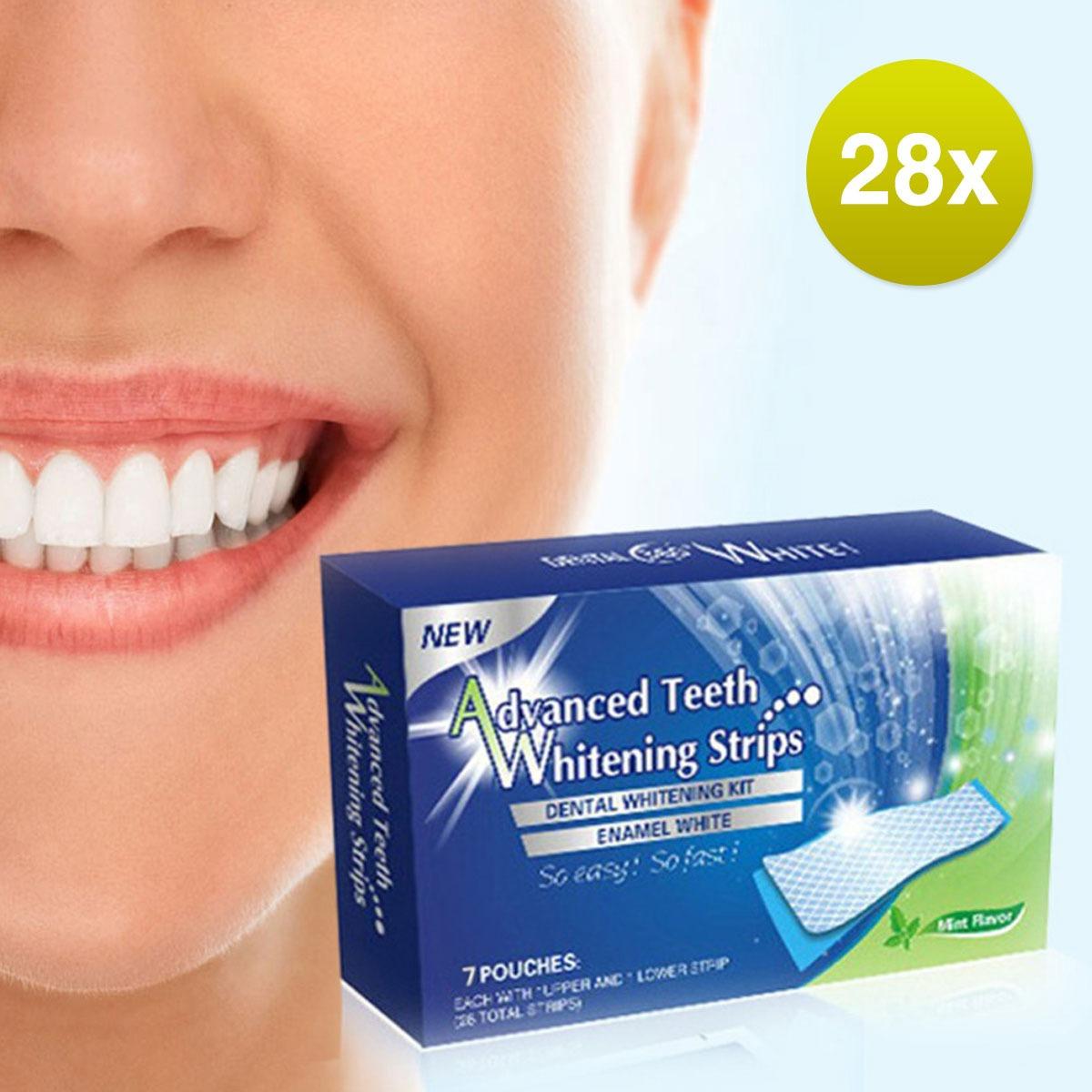 Fita Clareadora Dental Clareamento 28 Tira White Gel 3d Oral R 39