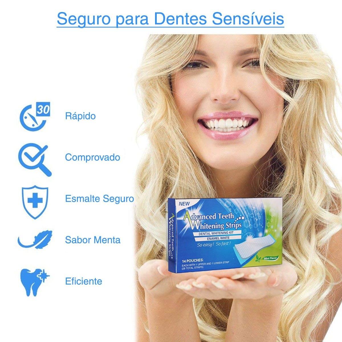Fita Clareadora Dental Clareamento Dentes 28 Tira White Gel R 34