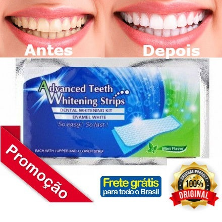 Fita Clareadora Dental White Strip Original Pronta Entrega R 50 00