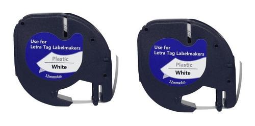 fita compatível para rotulador dymo 12mm x 4m kit c/2 und.