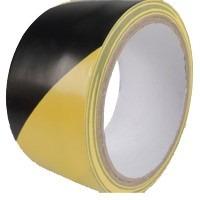 fita de demarcação de solo zebrada amarela/preta 48x14 brasf