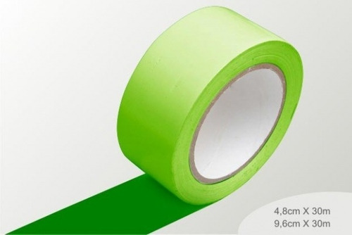 fita de demarcação verde - 0,96mm x 30m