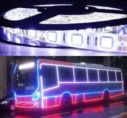 fita de led 5050 24v ip65 branca fria 6500k ônibus caminhão