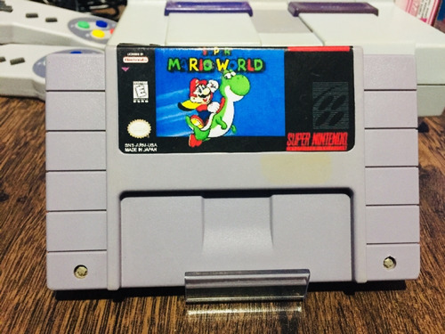 fita de snes original: super mario world (salvando)