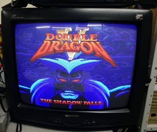 fita de super nintendo original double dragon 5