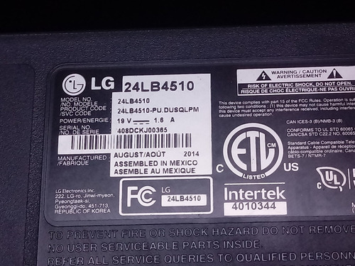 fita flat ead62108524 tv led lg 24lb4510