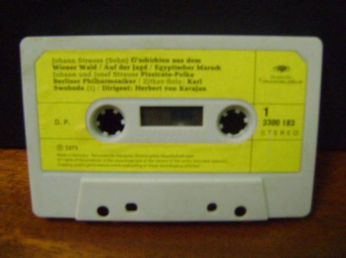 fita k7 cassete johann & joseph strauss - 1971