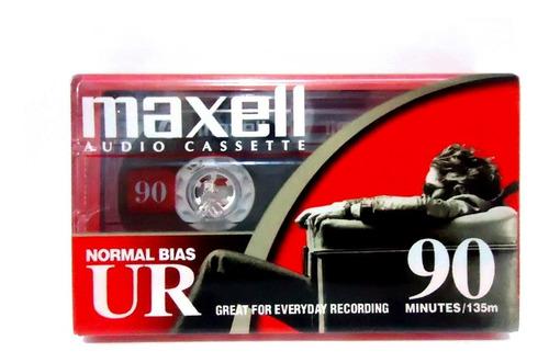 fita k7 cassete maxell ur90 - nova lacrada
