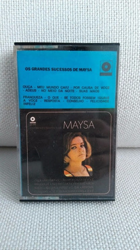 fita k7 cassete os grandes sucessos de maysa original rara