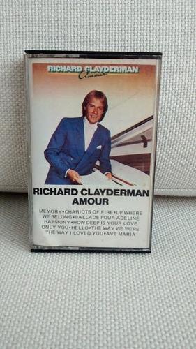 fita k7 cassete richard clayderman amour original raridade
