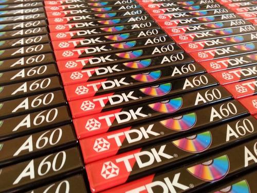fita k7 cassete tdk a-60 novas e lacradas ( valor unitário )