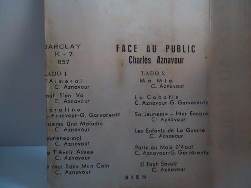 fita k7 charles aznavour - face au public (box 5)