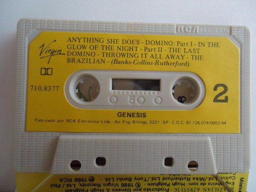 fita k7 genesis - invisible touch - trekus vintage (box 5)