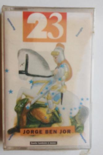 fita k7 jorge benjor 23 santo também é muso lacrada