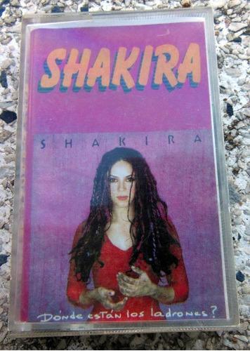 fita k7 shakira - dónde están los ladrones? - gravada