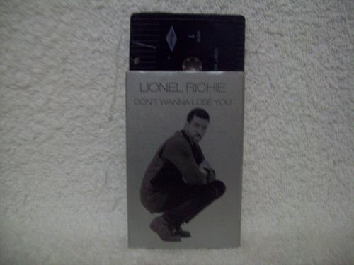 fita k7 single original lionel richie- don't wanna lose you