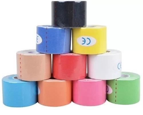 fita kinesio tape bandagem 5m por 5 cm pronta entrega