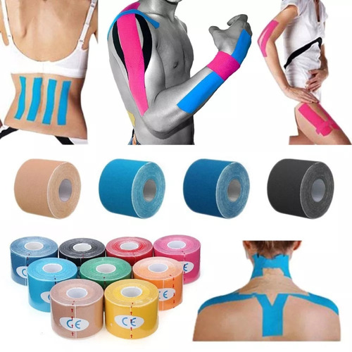 fita kit 20 cinesiologia muscular fisioterapia kinesio tape