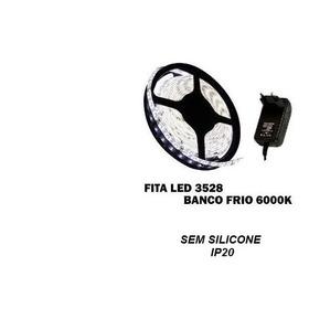 Fita Led 3528 Rolo 5m 300 Leds Dupla Face + Fonte Gratis Promoção 4