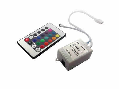 fita led 5m rolo rgb 300 led prova d'agua + controle + fonte