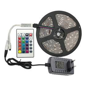 Fita Led 5m Ultra Rgb 5050 Prova D'agua + Controle + Fonte