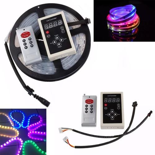 fita led digital 6803 rgb c/ controle 133 efeitos + fonte 3a