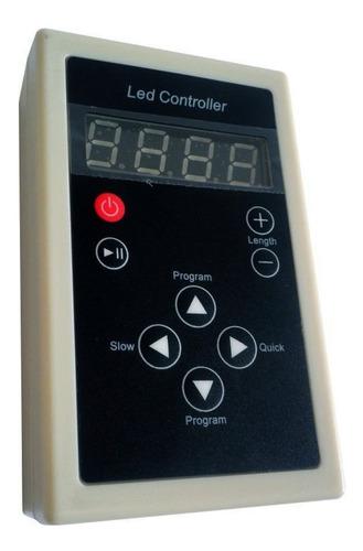 fita led digital 6803 rgb c/ controle 133 efeitos ip67 5050