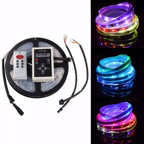 fita led digital cor 6803 5050 rgb prova d'água 133 efeitos