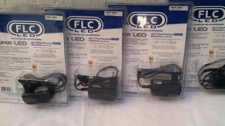 fita led flc 2m c/ fonte kit 5 com peças *5 anos de garantia