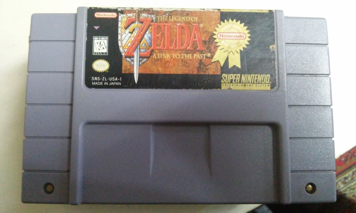 Fita Legend Of Zelda Original Snes Super Nintendo Salvando