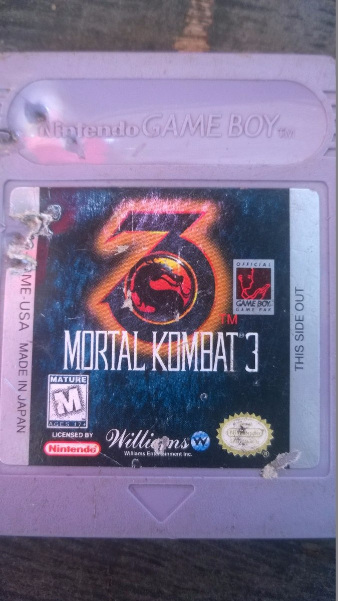 Game boy color quanto vale - Fita Original Game Boy Color Advance Sp Mortal Kombat 3 Luta
