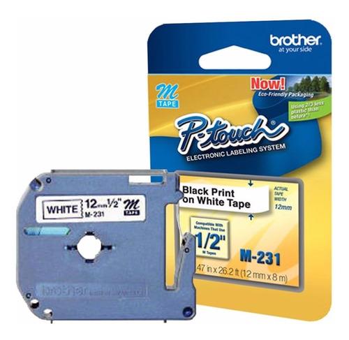 fita p/ rotulador brother pt 80/65/85/100/110  m231 original