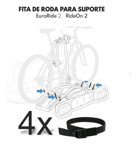 fita roda suporte thule rideon 9502 e  euroride 941 - 4 unid