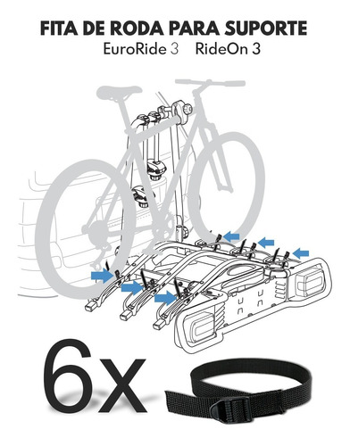fita roda suporte thule rideon 9503 e  euroride 943 - 6 unid