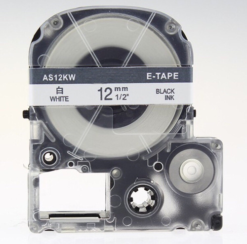 fita rotulador epson branca 12mm lw-300 lw-400 lc4wbn compat
